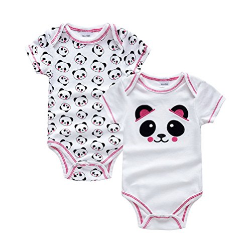 ARAUS Baby Strampler Unisex Einteiler Neugeborene Kletterbekleidung Sommer Baumwolle 2 Sets f/ür Kinder 0-9 Monate