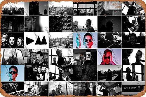 Cimily Depeche Mode Art Wallpaper Zinn Wand Zeichen Retro Kunst Eisen Malerei Metall Plakette 8 * 12 Zoll Wanddekoration Garten Poster Bar Café Schlafzimmer Hof
