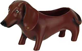 Allen Designs Resin Planters Oscar The Dachshund Dog Indoor/Outdoor Planter Statue 12.25 X 6.25 X 4.25 Inches Rust