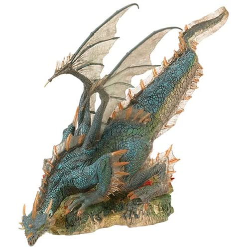 2004 - McFarlane / Spawn - McFarlane's Dragons - Rare Series 1 - Water Clan Dragon Action Figure - Quest for the Lost King Saga - Story Inside - Out of Production - Limited Edition - Collectible