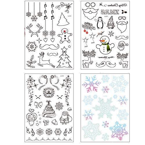 Limeow Tattoo Stickers Kerstmis Glow Tattoo Nachtlampje Tijdelijke tatoeage hete stempelen tatoeage stickers groene waterdichte sticker