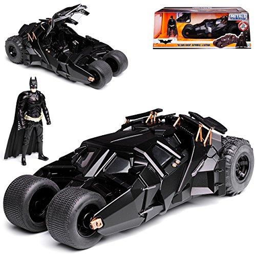 Batmobile und Batman The Dark Knight mit Figur 1/24 Jada Modell Auto mit individiuellem Wunschkennzeichen
