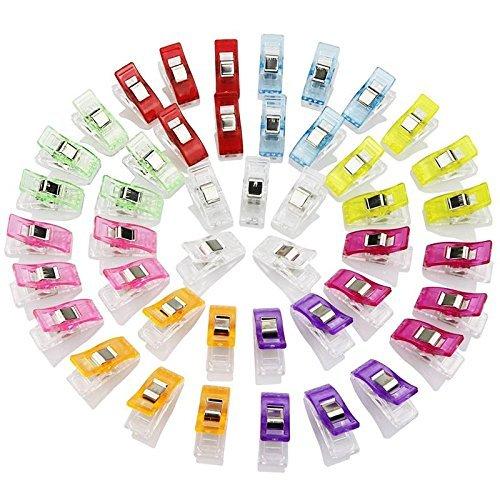 Zeagro - Mollette multiuso, 20 pezzi, in plastica, ideali per cucito e quilting, perfette per unire i pezzi di tessuto
