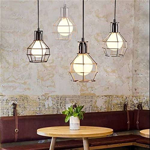 Hitommy E27 Ultra-Cheap Deals Industrial Bargain sale Style Metal Pendant Frame Cage Light Wire