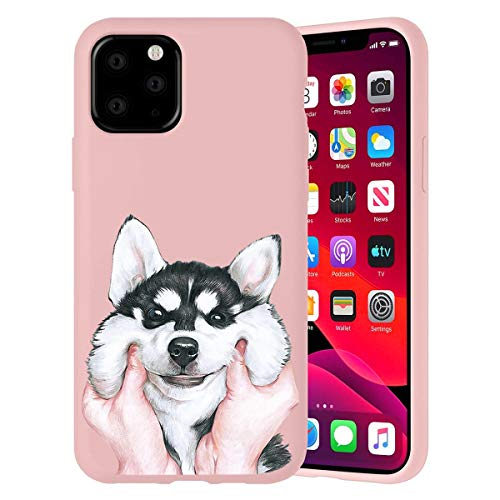 ZhuoFan Funda para Samsung Galaxy A21s 4G, Cárcasa Silicona Rosa con Dibujos Diseño Suave Gel TPU Antigolpes de Protector Piel Case Cover Bumper Fundas para Movil Samsung A21s 4G, Perro 01