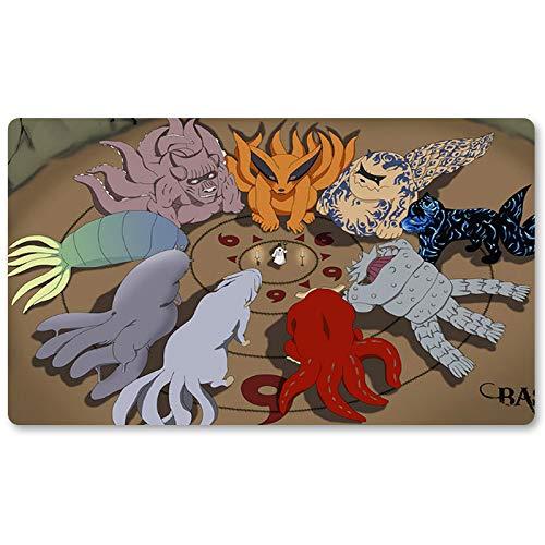 Naruto - Board Game MTG Playmat Games Table Mats Size 60X35 cm Anime Mousepad Keyboard Pad Play Mat for TCG Yugioh Pocket Monster Magic The Gathering