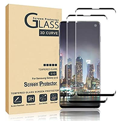 Comfort Valley Galaxy S10 Screen Protector,Full Coverage Tempered Glass[2 Pack][3D Curved] [Anti-Scratch][High Definition] Tempered Glass Screen Protector Suitable For Galaxy S10(NOT S10 Plus)