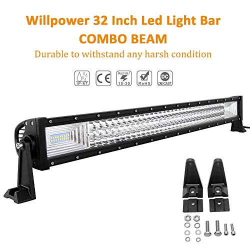 Willpower Barra LED 405W 81cm Barras de Luz de Trabajo 7D Tr