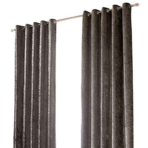 cortinas terciopelo gris