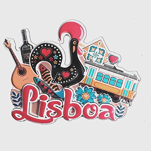 Portugal - Imán para nevera 3D con diseño de recuerdo para decoración del hogar y la cocina