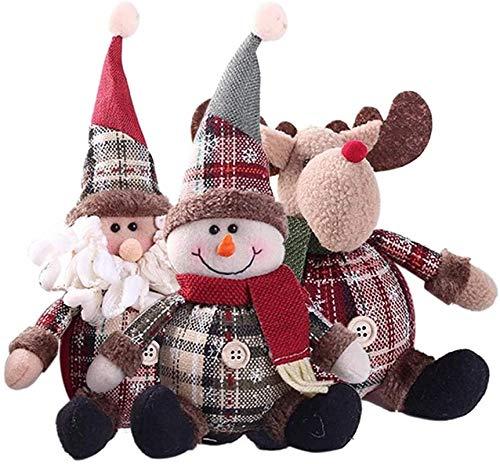 siyat EIN niedlicher Santa Claus Schneemann Puppe Weihnachtsdekoration Geschenk Puppe Weihnachtsbaum Hängen Dekorationen Neujahr Weihnachten Heimdekoration Jikasifa
