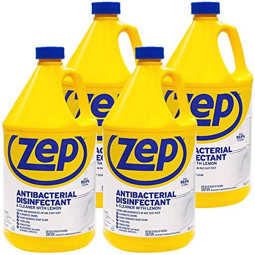 Zep Antibacterial Disinfectant Cleaner - See label for details, 128 ounce ZUBAC128 (Case of 4)