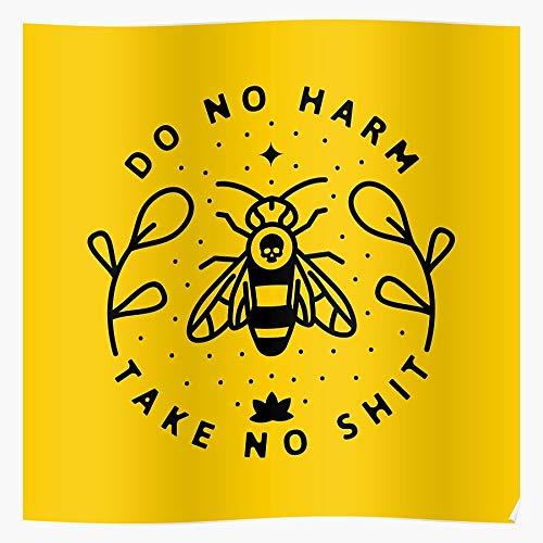 Love Floral I Loyal Africanized Save Killer Bee Honey The Bees Regalo para la decoración del hogar Wall Art Print Poster