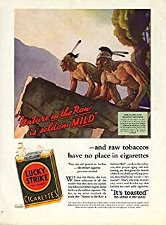 1b98d406185 Nature in the raw by N C Wyeth for Lucky Strike Cigarettes ad 1932 McC