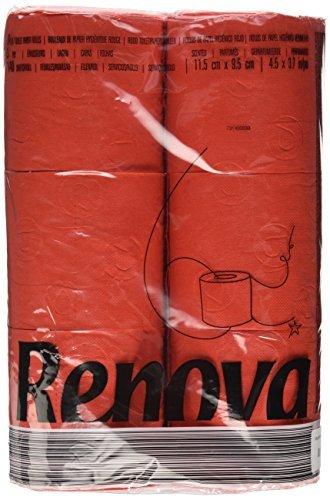 Renova Toilettenpapier Parfümiert (6x Rollen) ROT by Renova