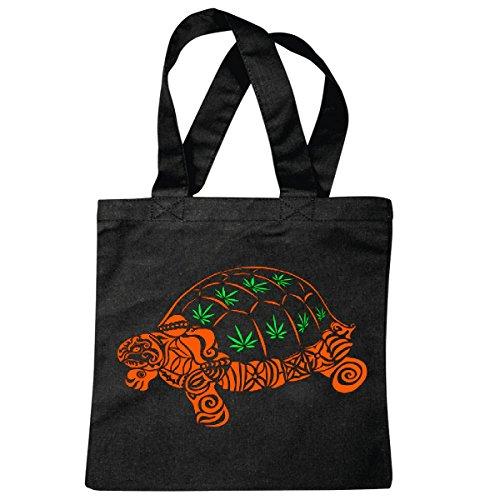 Tasche Umhängetasche Haschisch - Hanf - Kiffen - Marihuana - Gras - legalisieren - 70er Hippie Einkaufstasche Schulbeutel Turnbeutel in Schwarz