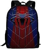 Spiderman Sac à dos d'écolier avec imprimé 3D Anime Spiderman Double couche Mode durable Ajustable (A8,13 pouces (maternelle)