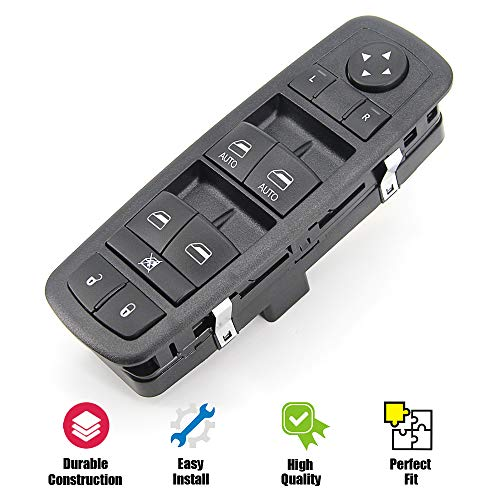 Power Window Switch Master Control Switch for 2012 2013 2014 2015 Ram 1500 2500 3500 4500 5500 Dodge Grand Caravan Chrysler Town and Country Replaces 68110866AA 68110866AB 68298866AA 901-400R