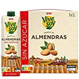 Vivesoy - Bebida de Almendras Sin Azúcar - Pack de 6 x 1 L