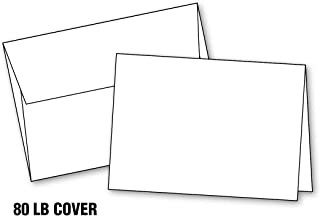Blank White Invitation Cards with Envelopes, (10