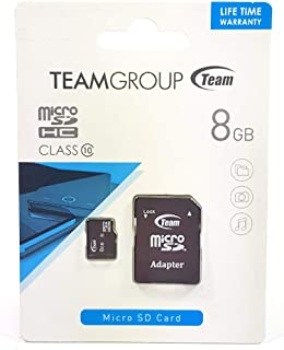 Team 8GB Class 10 Micro SDHC Memory Card, 90704