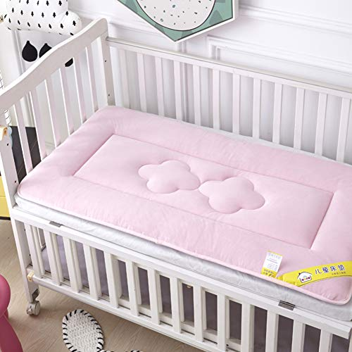 Purchase D&LE Baby Mattress, Thicken Crib Mattress Topper Foldable 4cm Breathable Soft Reversible Ma...