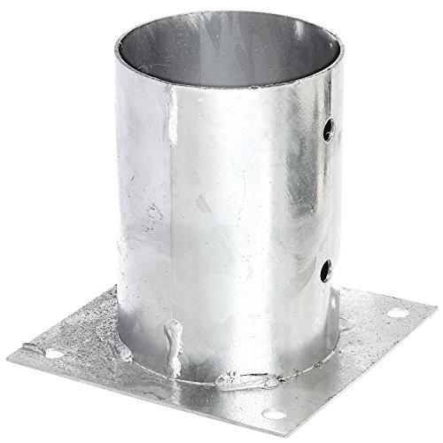 GAH-Alberts 211707 Aufschraubhülse für Rundholzpfosten - feuerverzinkt, Ø101 mm