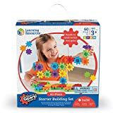 Learning Resources Gears! Gears! Gears! Starter Building Set, Early STEM, 60 Pieces, Ages 3+