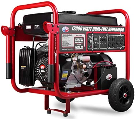 All Power America APGG12000GL 12000 Watt Dual Fuel Portable Generator with Electric Start 12000W product image