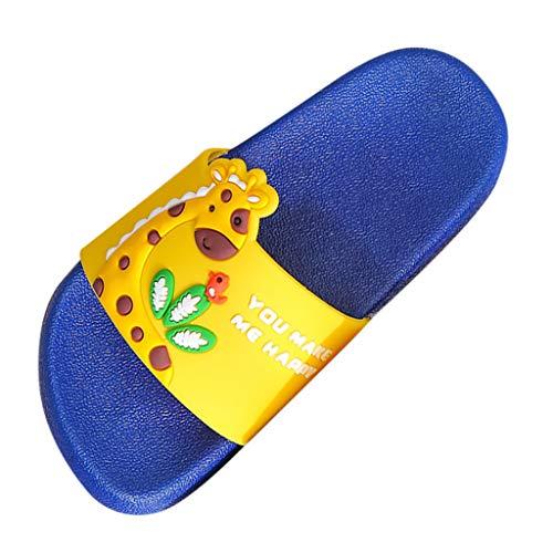 Ln-ZME Baby Sandalen Kinder Süß Cartoon Giraffe Hausschuhe Weichem Boden Pantoffel für Mädchen Junge Flache Bequem Slippers Lauflernschuhe