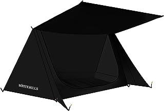 テント 1 2人用 パップテント ソロテント ツーリングテント 軍幕 小型テントWhiteHills 3シーズン コンパクト 収納バッグ付き 設営簡単 通気性 防雨 防水 防災 超軽量 ハイキング 釣り