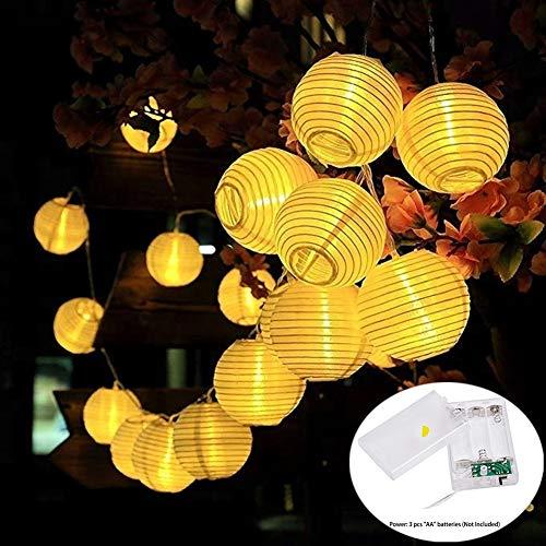 MOVEONSTEP Lampion Lichterkette 4,2 Meter 20 LED-Laternen Wasserdichte für Weihnachten Garten, Hof, Hochzeit, Hartdeko (Warmweiß)