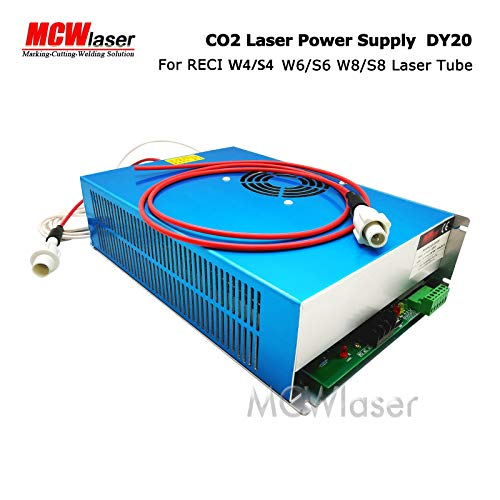 RECI CO2 Laser Tube 150W (Peak 180W) 1850mm W8/S8 and DY20 Power spply for Laser Engraving & Cutting Insurance & Air Express
