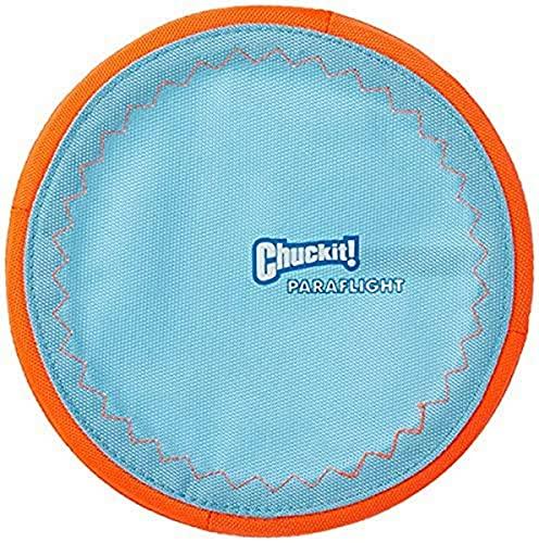 ChuckIt! Paraflight Flyer Dog Toy, Large (Orange/Blue)