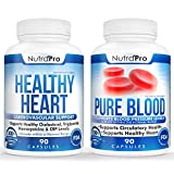 Healthy Heart and Blood Pressure Support Supplements-Artery Cleanse & Protect,Cholesterol and Triglyceride Balancing,Natural Anti-Hypertension,Cardiovascular Support.