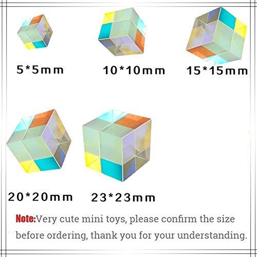 NO LOGO 1pc Rainbow Light Prism Six-Sided Bright Light Cube Professionelle Magic Cube Geschenke Lernspielzeug Zuhause-Party-Dekoration Foto Props (Farbe : Rainbow Color, Größe : 5x5x5mm)