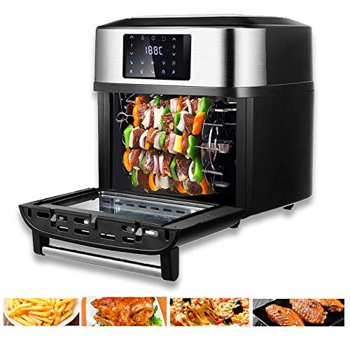 20-Qt Convection Toaster Oven,1800W Air Fryer, Countertop Toaster Oven with Nonstick Fry Basket for Roast Pizza Chicken Cookies Fry Oil-Free, Sold by VCF
