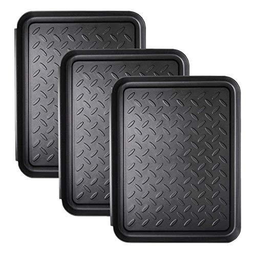 Casinlog 3 piezas de bandeja para botas de alto rendimiento para proteger el suelo, 33 x 10,8 pulgadas