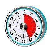 AIMIMILAR Timer meccanico da cucina magnetico – Timer visivo da 60 minuti con allarme forte per bambini e adulti cottura a vapore barbecue Blue
