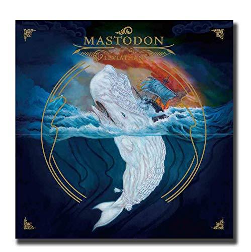 DPFRY Leinwand Malerei Wandkunst Bild Mastodon Rockmusik Sänger Star Poster Drucken Leinwand Malerei Ohne Rahmen 50 * 50 cm