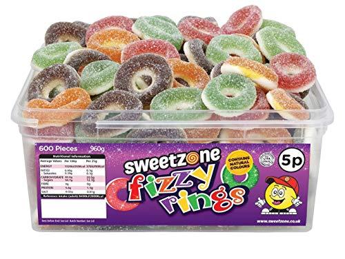 SweetZone 100% Halal Fizzy Rings Candy ohne Schweinegelatine 1kg