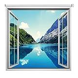Estor enrollable YXX Paisaje de la Naturaleza del Paisaje temático 3D persianas de Ventana, el 99% de Cortina Cortinas Opacas for la Cocina, Fuera y Dentro de Monte (Size : 125cmx130cm)