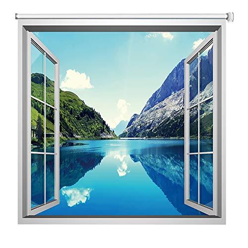 Estor enrollable YXX Paisaje de la Naturaleza del Paisaje temático 3D persianas de Ventana, el 99% de Cortina Cortinas Opacas for la Cocina, Fuera y Dentro de Monte (Size : 60cmx80cm)
