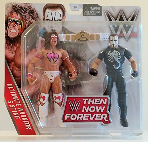 WWE, Basic Series, 2016 Then Now Forever, Ultimate Warrior and Sting Action Figures by Mattel