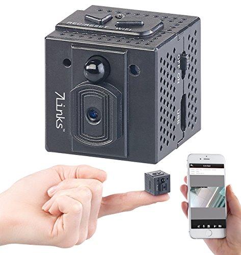7links WLAN Mini Kamera: HD-Micro-IP-Überwachungskamera mit WLAN, Nachtsicht & App-Zugriff (HD Mini Cam App)