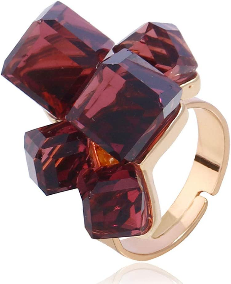 Square Ring Adjustable Ring For Women Geometric Ring