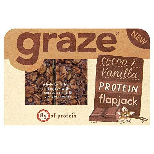 Graze Cocoa and Vanilla Protein Vegan Sweet Flapjacks, 53 g
