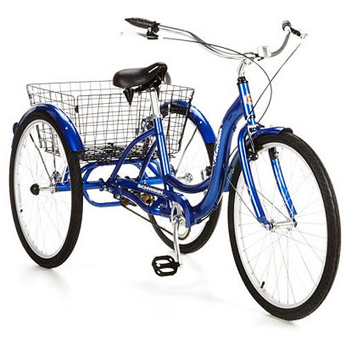 "Schwinn Meridian Adult 26"" 3-Wheel Bike (Blue)"