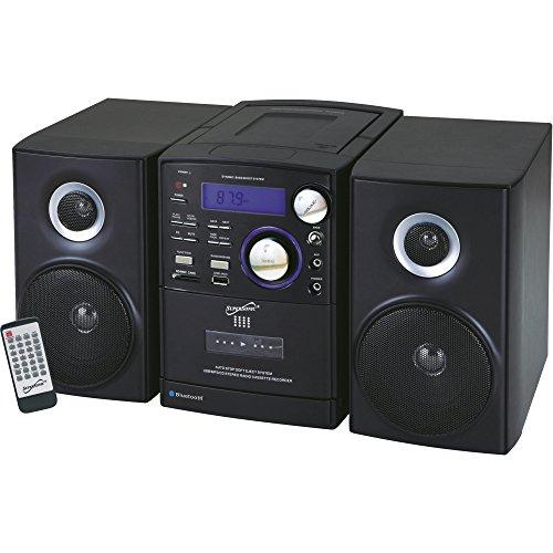 Supersonic SC-807 Micro Hi-Fi System - iPod Supported - CD Player, Cassette Recorder - 1 Cassette(s) - AM, FM - CD-DA, MP3 - USB - Remote Control - SC-807