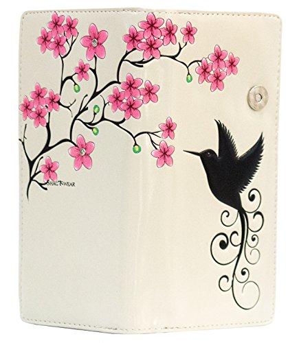 Shagwear portafoglio per giovani donne Colibri Beige/Hummingbird, Large Purse(WALT 0729Z):